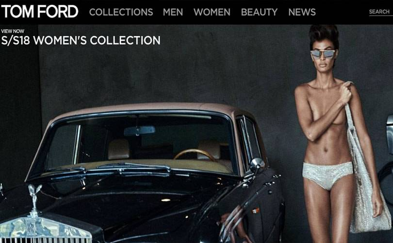 Tom Ford rollouts e-commerce to the UK