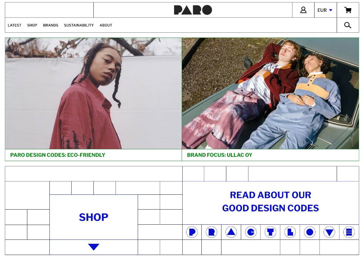 PARO STORE - bringing design & values together in digital retail