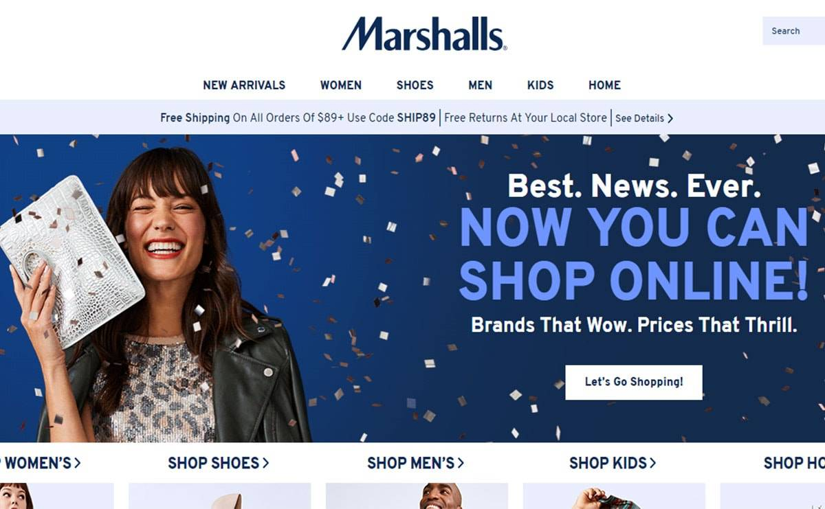 Marshalls debuts first-ever online store