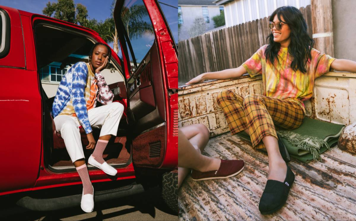 "Toms ""evolving"" giving model alongside new youthful visual identity"