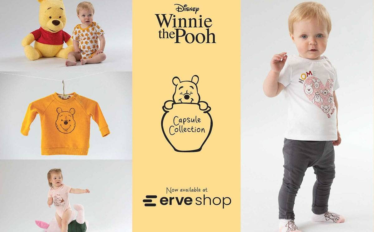 Erve Shop launches its first-ever capsule collection, dedicated to Winnie The Pooh