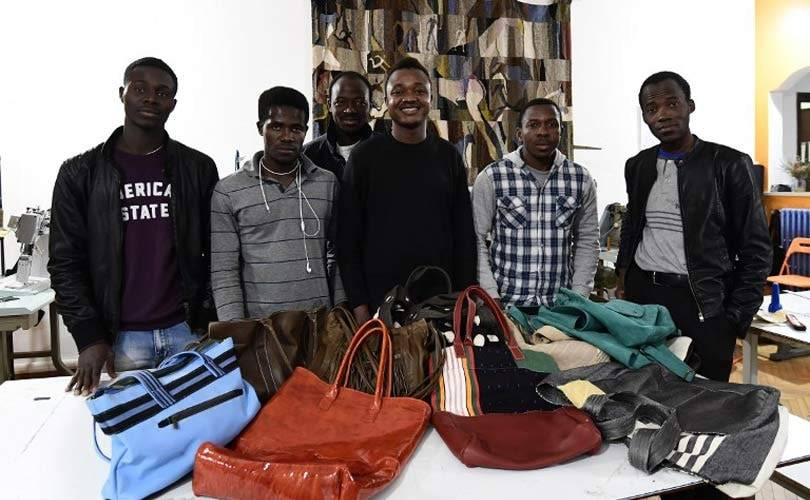 From Libya's migrant hell to Italy's handbag fashion world