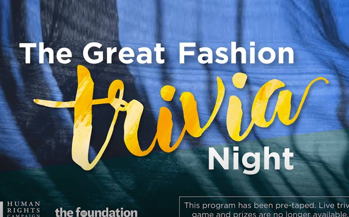 Video: FIT and Human Rights Campaign host a virtual fashion trivia night