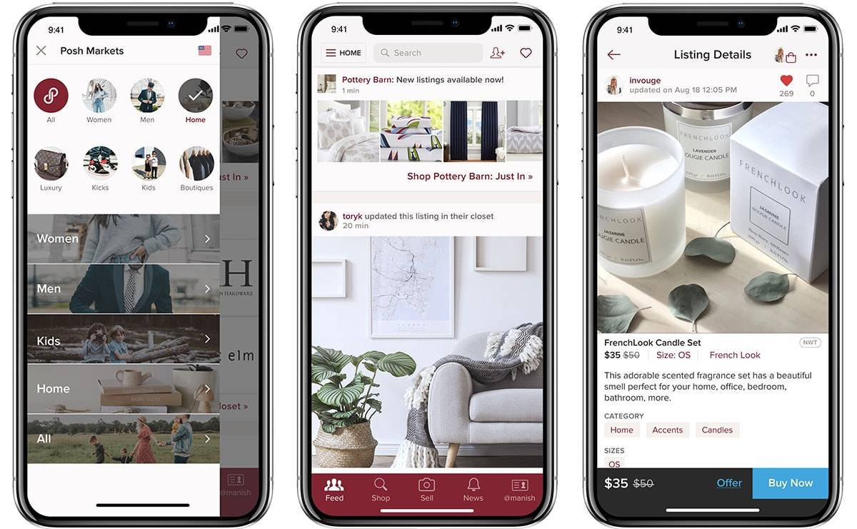 Poshmark expands into home decor resale