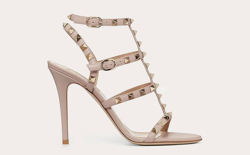 Valentino, in a trademark filing, says its studded shoes have acquired distinctiveness