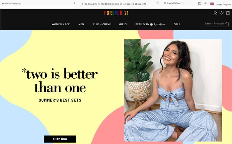 Forever 21 re-enters the UK and EU market