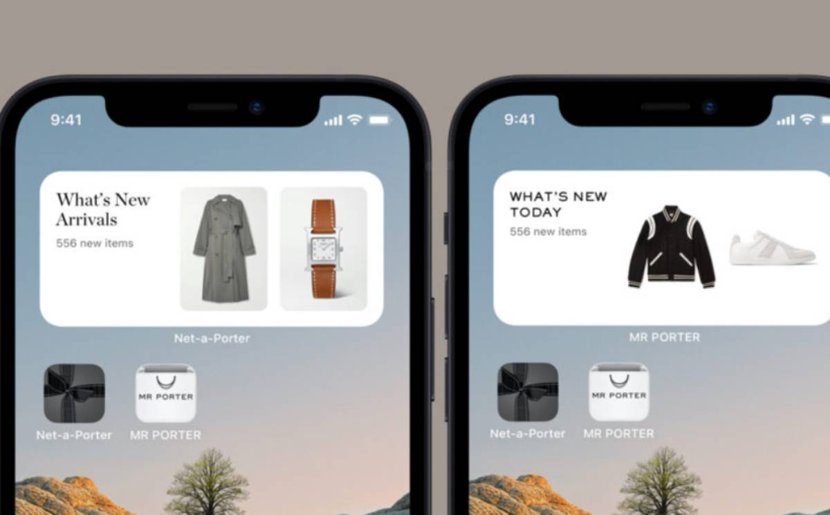 Net-a-Porter, Mr Porter launch new 'glanceable' iOS widgets