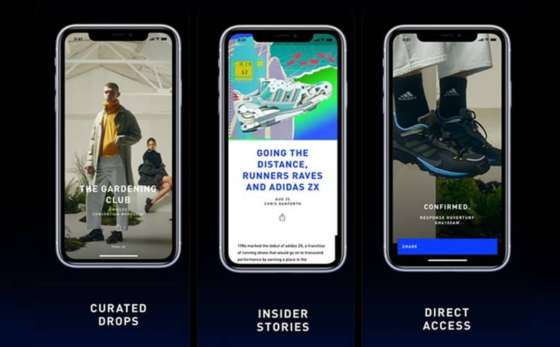 Adidas expands streetwear app Confirmed to UK, Europe