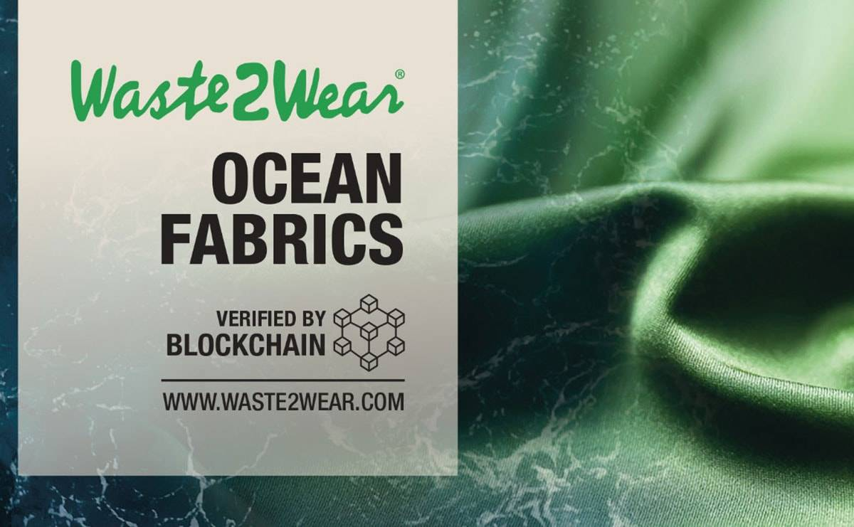 Waste2Wear presents world's first collection of ocean plastic fabrics verified with Blockchain