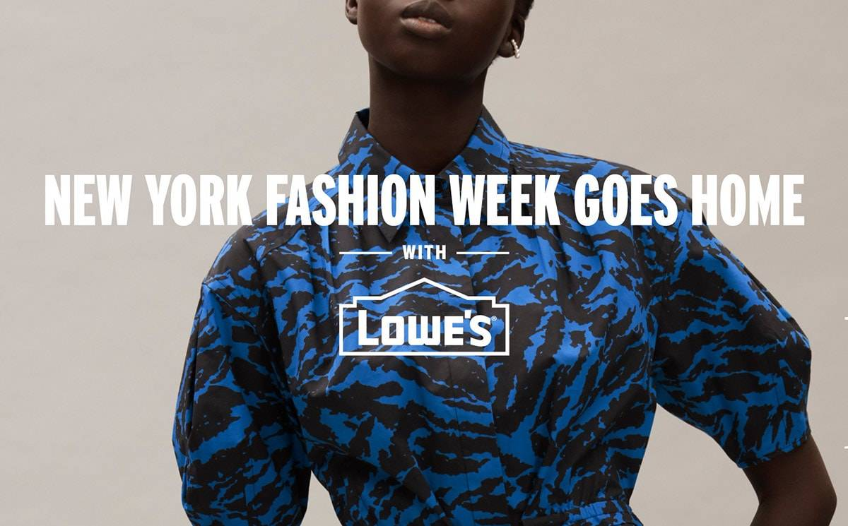 NYFW: The Shows teams with home improvement retailer Lowe's