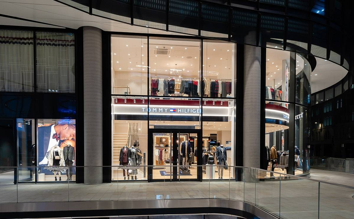 Pictured: Tommy Hilfiger opens store at London's Broadgate Centre