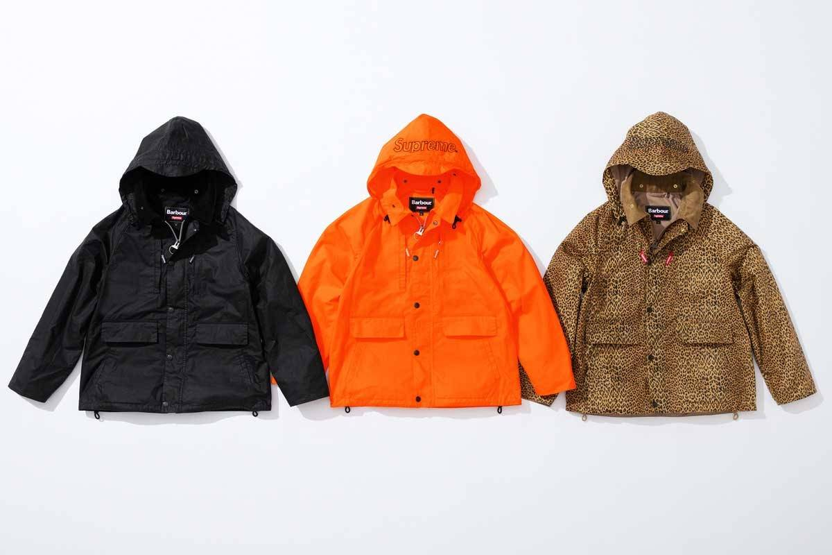 Supreme collaborates with Barbour