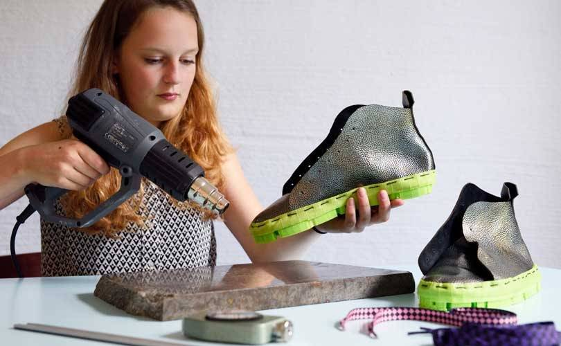 In pictures: The making of knitted footwear & 3D printed shoes