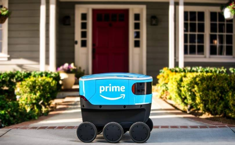 Amazon debuts robot for small deliveries in the US