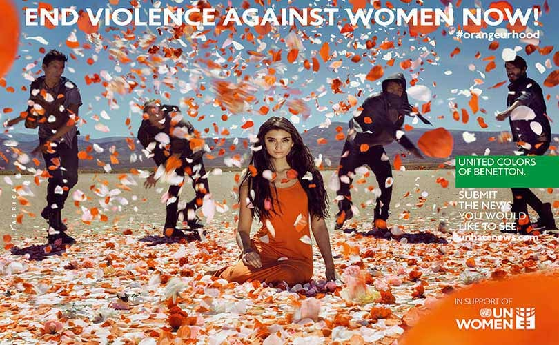 Benetton teams up with the UN to end violence against women