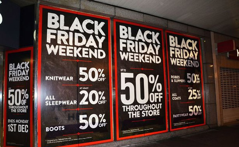 Black Friday to smash UK online sales records as Cyber Monday trails behind