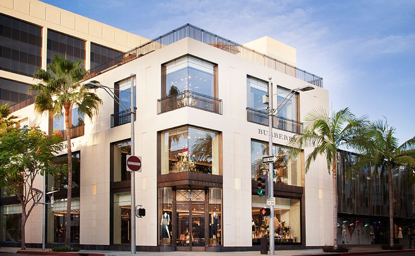 Burberry opens LA flagship on Rodeo Drive