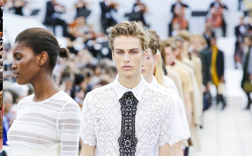 Burberry's daring lace closes London men's fashion week