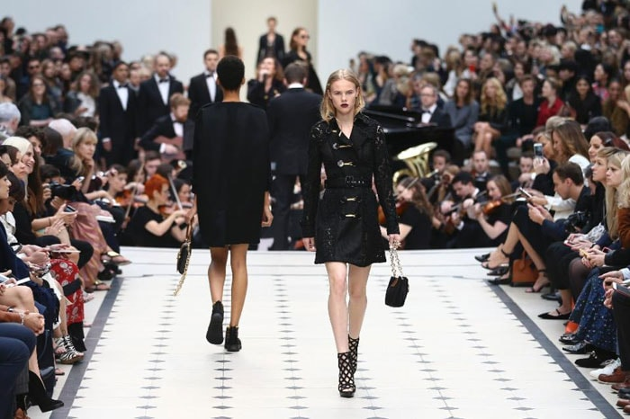 Burberry hits London Fashion Week with leather and lace