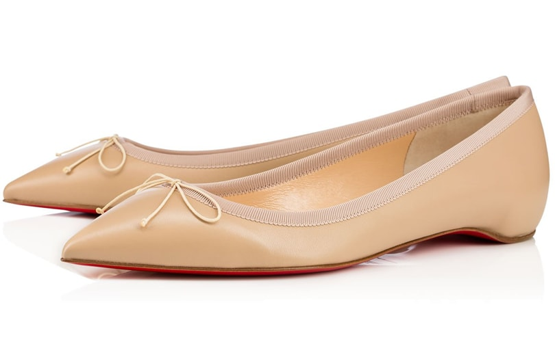 red bottom shoes for men - Louboutin now offering nude flats