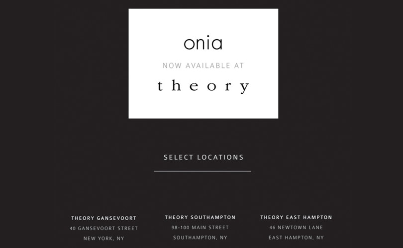 Onia collaborating with Theory