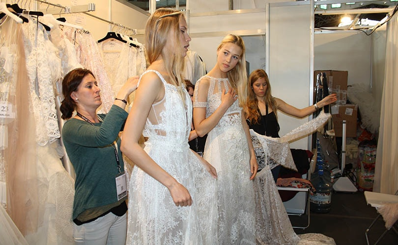 In picture: Barcelona Bridal Fashion Week trade fair