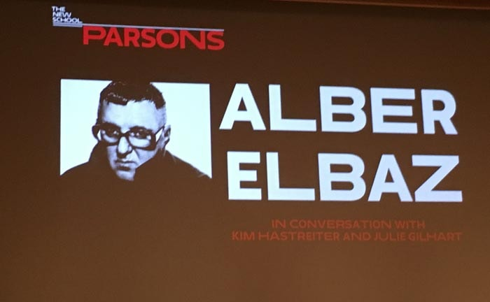 Alber Elbaz Talks