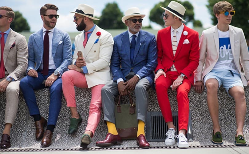 Peacocking: the highlight of Pitti Uomo