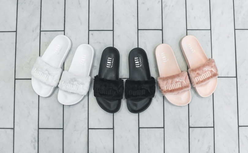 Rihanna's Fenty for Puma slides to be released in grey