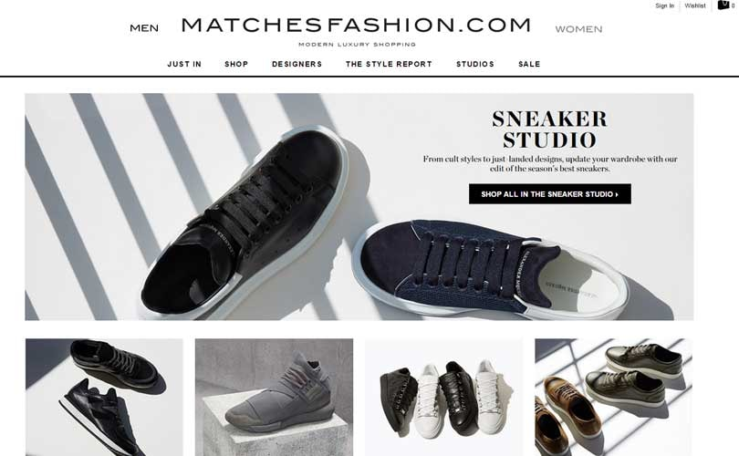 Matchesfashion.com launches 'Sneaker Studio' for men