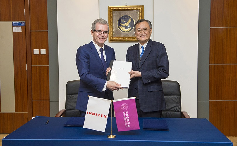 Inditex signs agreement with China's Tsinghua SEM University
