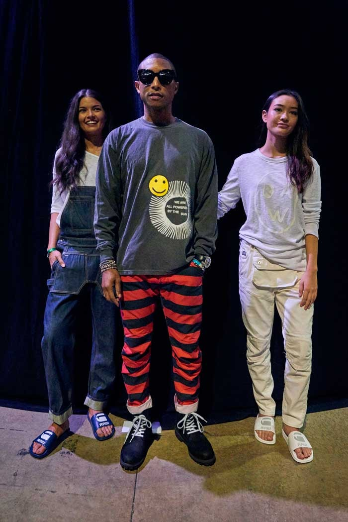 Pharrell unveils first collection as new head of G-Star