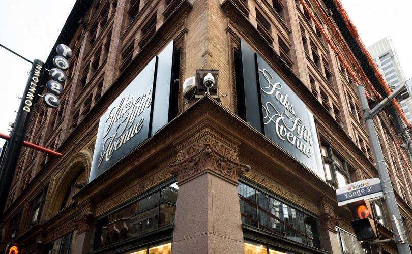 Hudson's Bay Company opens first Saks Fifth Avenue in Canada