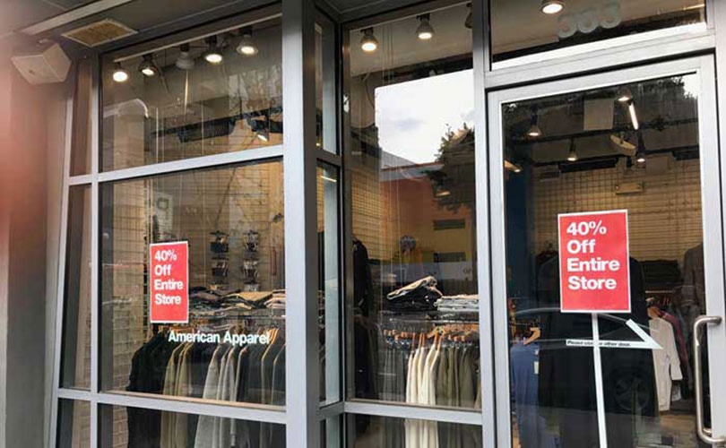 American Apparel not to shut remaining stores immediately