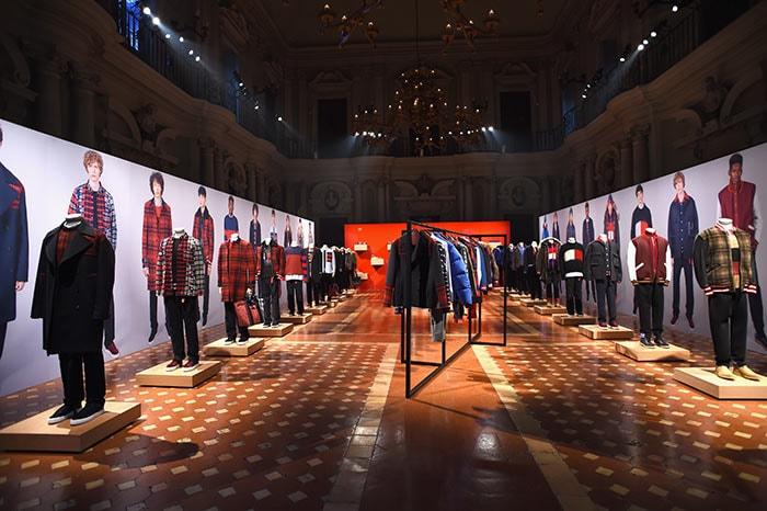 Presley Gerber & Rafferty Law showcase Tommy Hilfiger Edition AW17 at Pitti Uomo