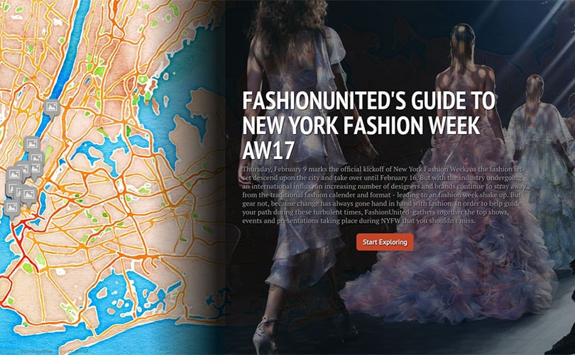 Map: FashionUnited's Guide to New York Fashion Week AW17