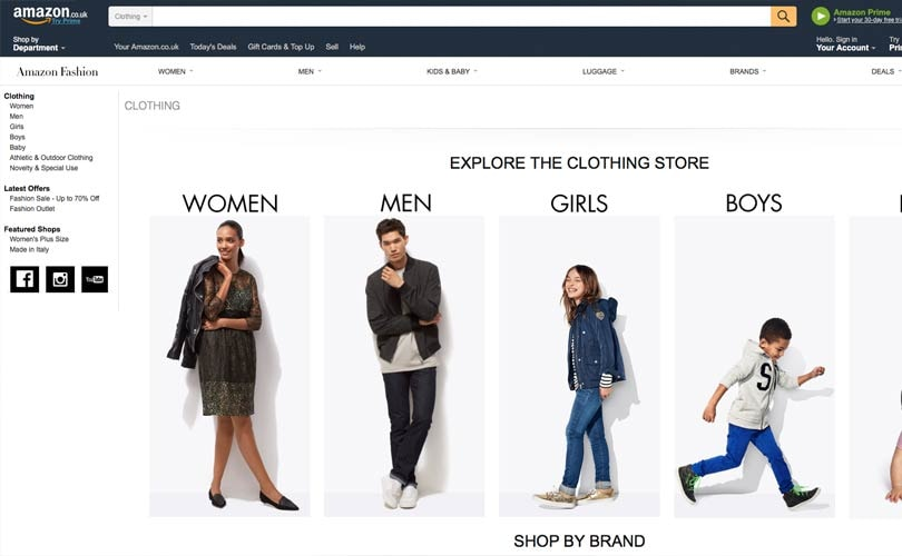 Amazon To Launch Own Fashion Brand Compete With Uk High Street