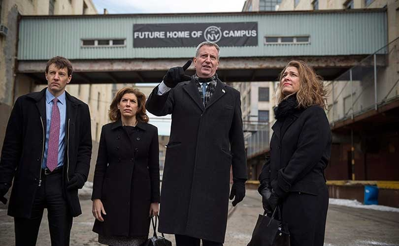 Bill de Blasio earmarks 136 million for Made in New York Campus