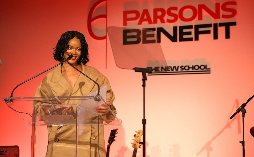 Rihanna Rings In Tomorrow's Talent at Parsons Fashion Show