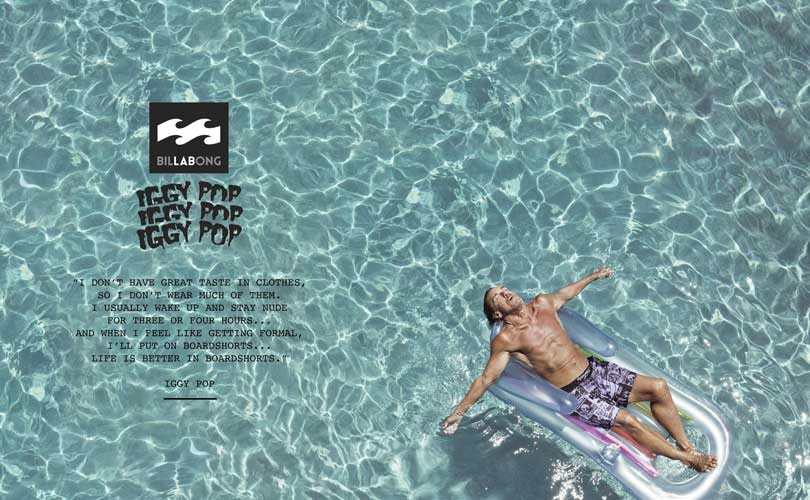 Billabong partners with Iggy Pop for surf, punk collection