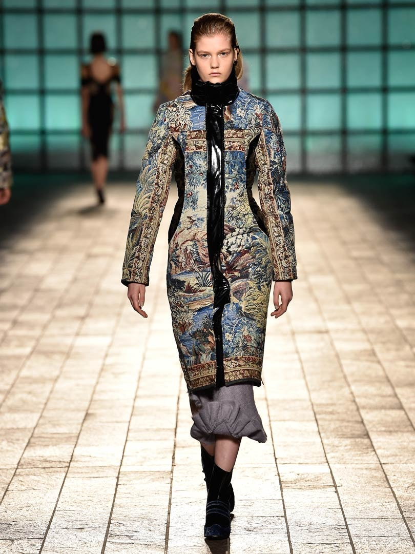 Mary Katrantzou collaborates with Moose Knuckles Canada