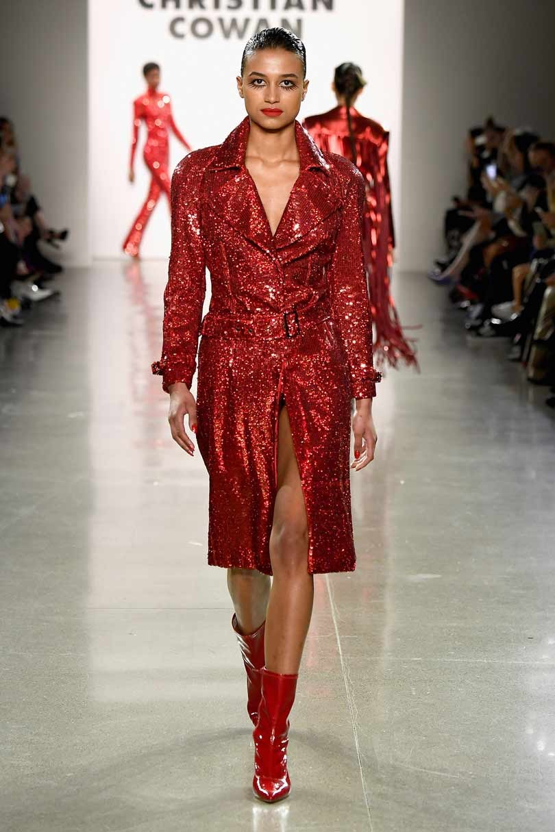 Christian Cowan goes for glitter and glamour for New York Fashion Week