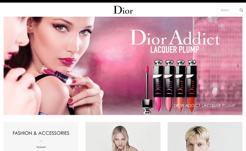 Dior tops list of best performing websites