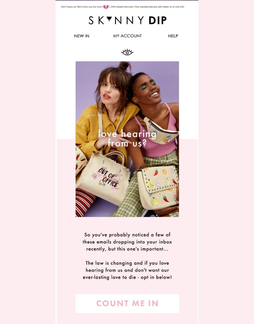 The best GDPR fashion emails asking you to 'Stay in Touch'