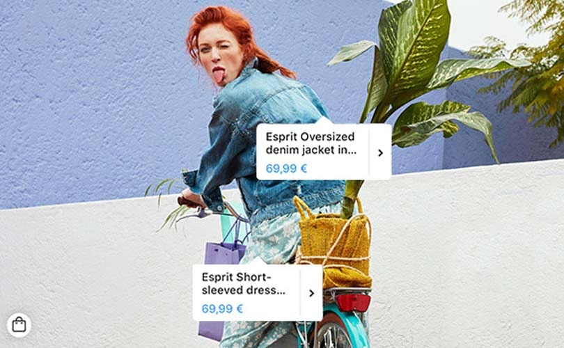 Esprit's Instagram posts are now shoppable