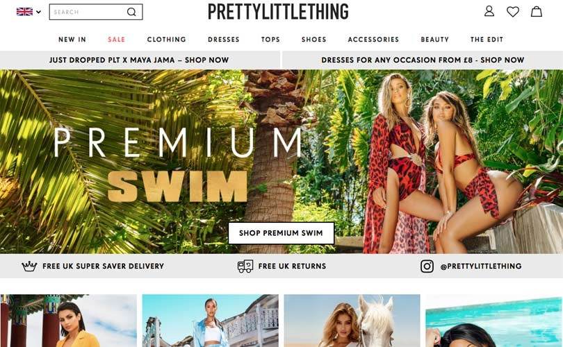 "PrettyLittleThing struggles with ""overwhelming demand"""
