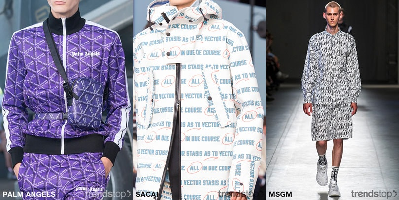SS19 Key Menswear Print & Graphics Directions