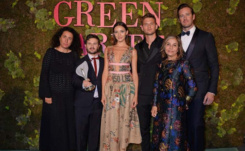 Gilberto Calzolari wins best emerging designer at The Green Carpet Fashion Awards