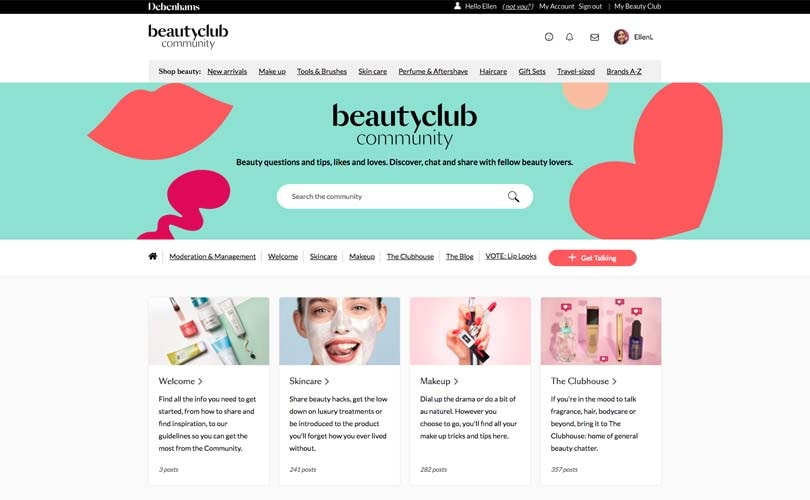 Debenhams debuts online beauty community and digitally-integrated beauty halls