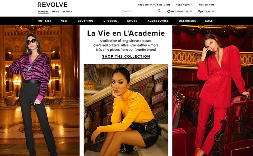 Womenswear e-tailer Revolve files for 100 million dollar IPO